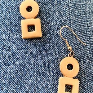 Goldtone Drop pierced Earrings